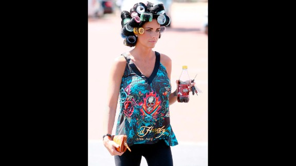 British model and TV personality Katie Price wears Ed Hardy casually, and was even spotted riding horses while wearing an Ed Hardy bomber.