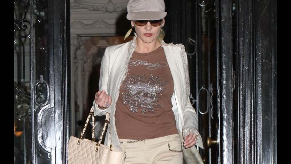 Usually seen as a style maven, even Catherine Zeta Jones took part in the Ed Hardy trend.
