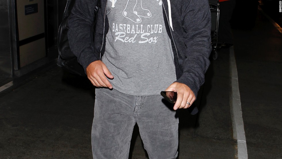 Matt Damon represents Boston as he catches a flight from LAX on July 15.