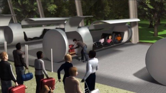 A video by a Colorado firm demonstrates a futuristic transportation system that would whisk passengers through vacuum tubes at speeds of up to 4,000 miles an hour. Entrepreneur Elon Musk, a pioneer in both electric cars and private spaceflight, has expressed interest in the idea.