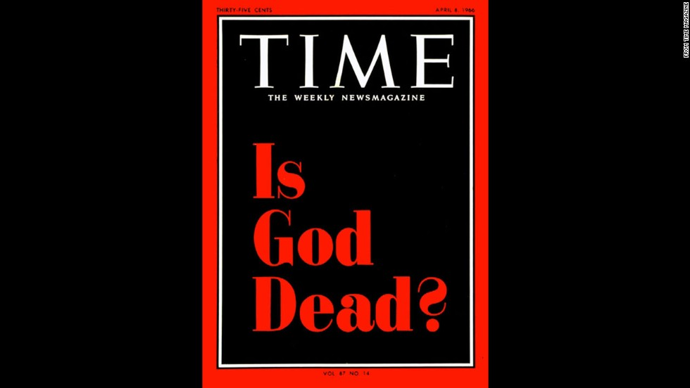 "Time magazine's April 8, 1966, cover, and a related article discussing the ""death of God movement,"" drew immediate backlash."