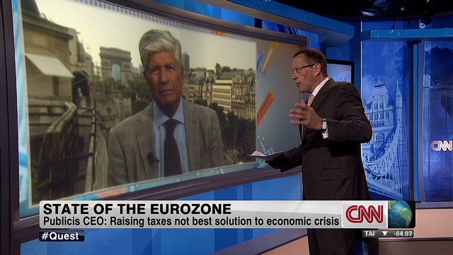 CEO: Cut public spending in eurozone