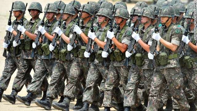 All able-bodied South Korean men must serve approximately two years in the miltary.