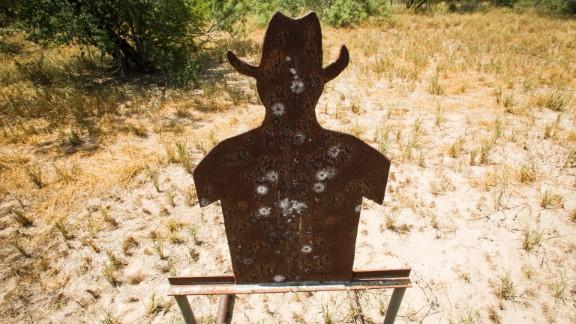 A gun range target on the El Tule Ranch.