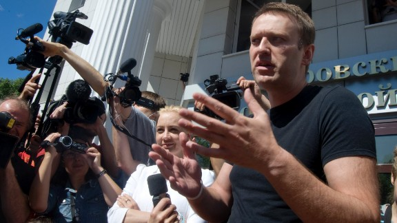 "Anti-corruption lawyer Alexey Navalny once branded Putin's United Russia party ""the party of crooks and thieves."" He was arrested in December 2014 on accusations of fraud."