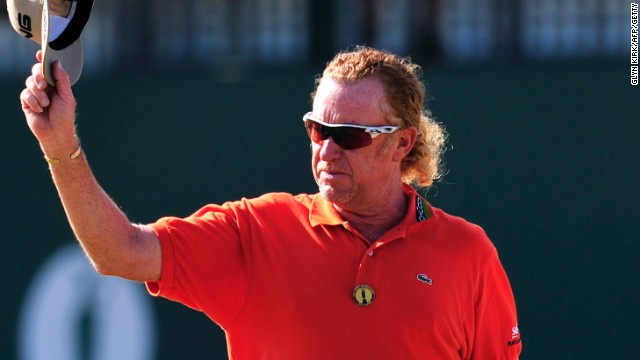 Miguel Angel Jimenez put up another superb display at Muirfield to claim the halfway lead at the British Open.
