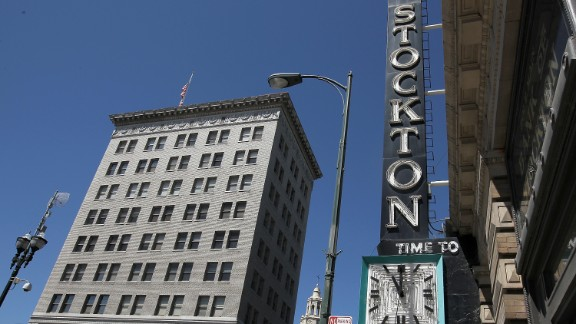 Stockton, California, filed for bankruptcy on June 28, 2012, due to a $26 million budget deficit and an inability to reach an agreement with its creditors.