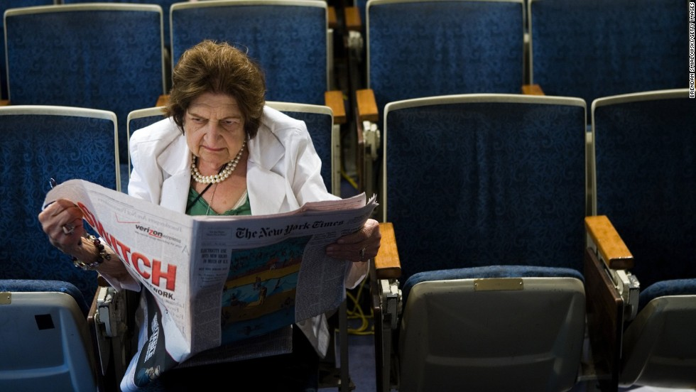 Pioneer journalist and former senior White House correspondent Helen Thomas died on July 20, after a long illness, sources told CNN. She was 92. Here, Thomas reads the newspaper in the White House press room on August 2, 2006.
