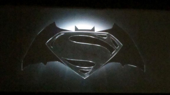 An image shown at San Diego Comic-Con, captured by a CNN iReporter, melds the two iconic logos.