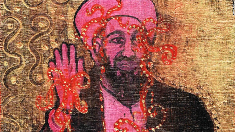 Portrait of Osama bin Laden by Daisy Rockwell.