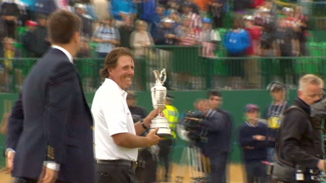 Mickelson revels in British Open win