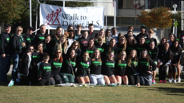 The McIntosh High School Girls Lacrosse team raise money for the ALS Association at their annual Walk to Defeat ALS event.