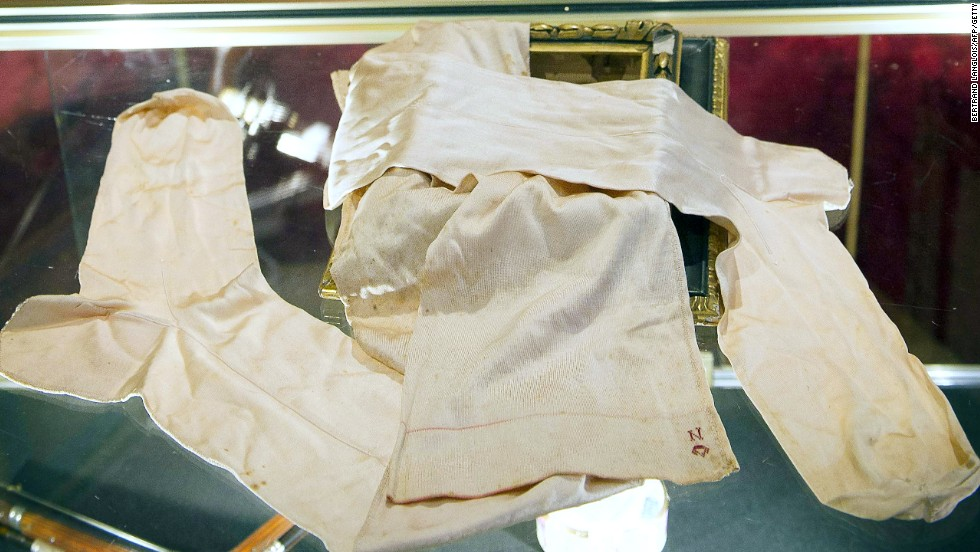 Napoleon's silken briefs on show at the Château de Fontainebleau, which the French autocrat wanted to top the Palace of Versailles.