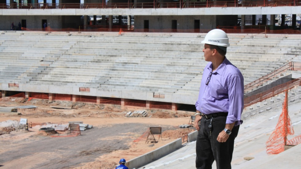 Miguel Capobiango Neto, the man who is overseeing the World Cup preparations for the city of Manaus.