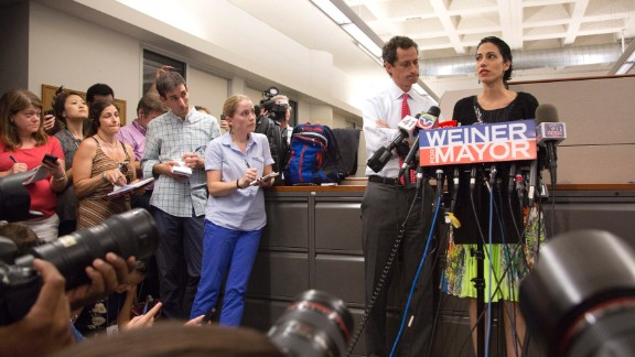 "The press conference was held after chat messages purporting to be from Weiner were published on the website TheDirty.com. The post cited a ""solid"" source alleging Weiner engaged in lewd online conversations with her, and the site reproduced lengthy chats that were sexual in nature."