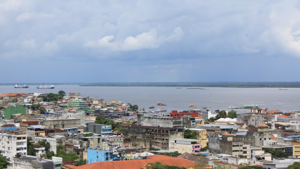 Manaus sits on the banks of the Rio Negro river, an important source of food and transportation.