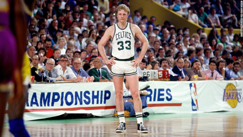 "OK, so Larry Bird is actually from French Lick, Indiana. Still, given his impact on the Boston Celtics -- a storied professional basketball team built by a New Yorker (Red Auerbach) and spurred to greatness by a Louisianan-Californian (Bill Russell) -- Boston is proud to claim the Basketball Hall of Famer. ""Larry Legend"" won three NBA MVP awards, three championships and an Olympic gold medal -- along with scoring bucketloads of points."