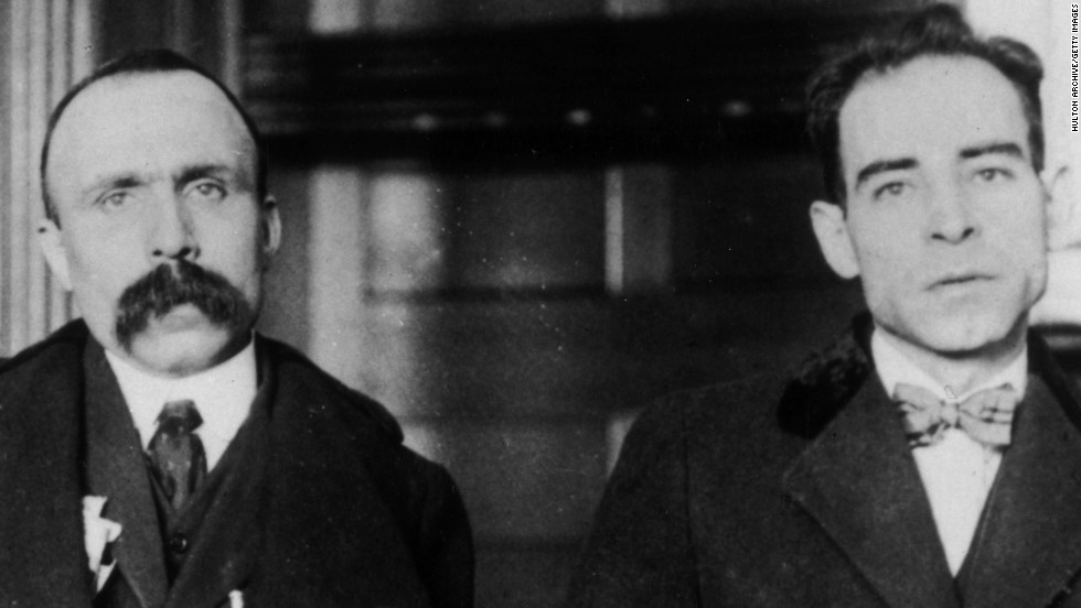 Bartolomeo Vanzetti, left, and Nicola Sacco were the defendants in one of the most famous cases in U.S. history, convicted of a South Braintree murder more because of their anarchist beliefs than the evidence. Their execution, in 1927, spawned protests, demonstrations and riots around the world.