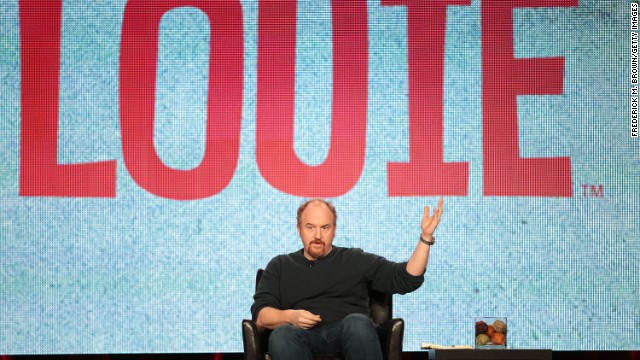 "Louis C.K. attends a press panel for his FX show ""Louie"" in January 2012."