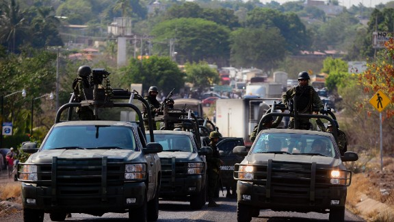 Mexican troops have taken control of a key port in Mexico (file photo)