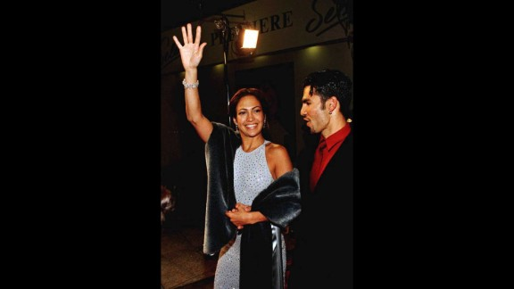 """Lopez's big break came in the title role of the biopic """"Selena,"""" which catapulted her into the limelight. She brought then-husband Ojani Noa to the Hollywood film premiere in 1995."""