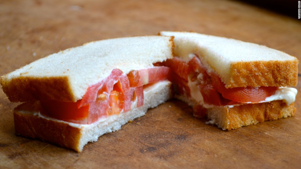One more tomato sandwich, because really -- it's the finest sandwich on the planet.