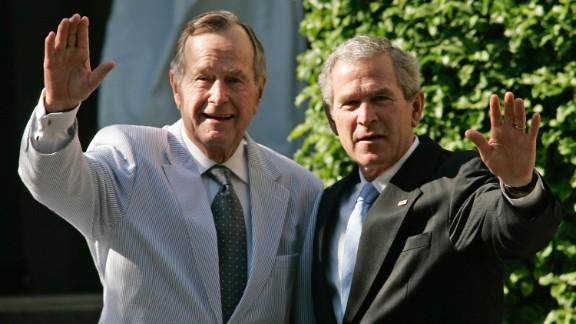 George Herbert Walker Bush and George W. Bush: America