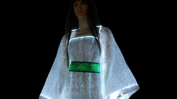 Glow in the dark with the LumiDress. Made up of ultra-thin optical fibers woven together with other synthetic fiber this dress will light up the night.