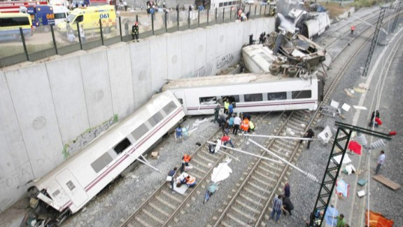 The train was on its way from Madrid to the town of Ferrol with more than 200 passengers aboard.