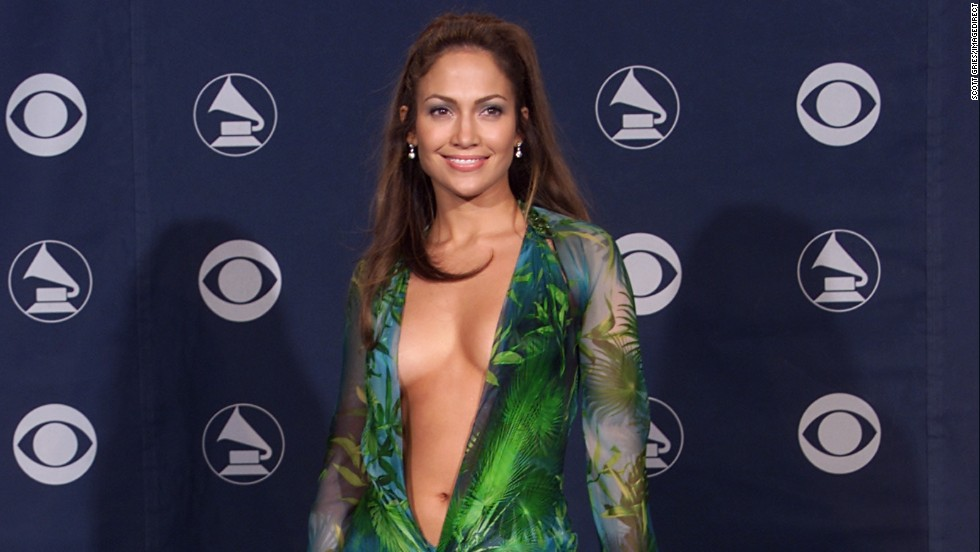 Jennifer Lopez was unforgettable in a barely there dress on the Grammy Awards red carpet in 2000.