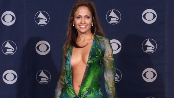 Lopez also put a great deal of energy into her music career, which was upstaged in 2000 by this outfit at the Grammys.