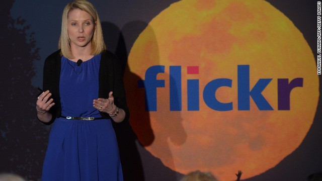 Yahoo CEO Marissa Mayer speaks during a May 2013 announcement related to its Flickr photo-sharing site.