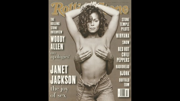 "Janet Jackson was featured on the September 1993 cover of Rolling Stone with a pair of hands covering her breasts. The photograph came from a session Patrick Demarchelier shot while producing artwork for the cover of the sexually charged ""Janet"" album. ""We had a choice of shooting her ourselves,"" Laurie Kratochvil, Rolling Stone's director of photography, told the Los Angeles Times. ""But they offered us this and the image is very powerful."" The provocative image shocked the world and established Jackson's status as a sex symbol."