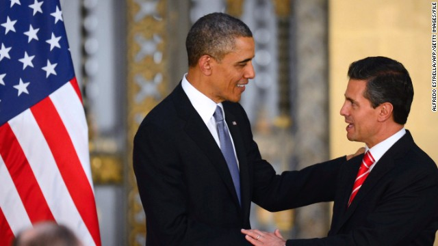 President Barack Obama meets with Mexican President Enrique Peña Nieto in Mexico City in May.