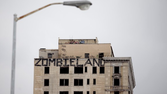 Derelict buildings, deserted neighborhoods and empty factories litter the suburbs of Detroit, once considered the economic boomtown on the U.S. in the 1950s.