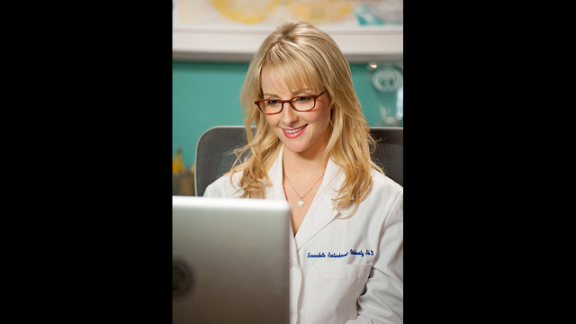 Rauch's Bernadette Rostenkowski-Wolowitz is a highly paid scientist who is married to Howard. A frequent joke in the show is how she can be as overbearing as his mother.