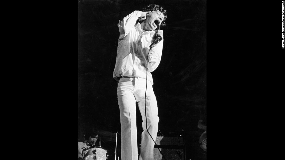 Jagger's preference for a slim-cut trouser makes sense when you consider the era in which he became famous. Seen here in 1966, the rocker's trousers were also a sign of the times.