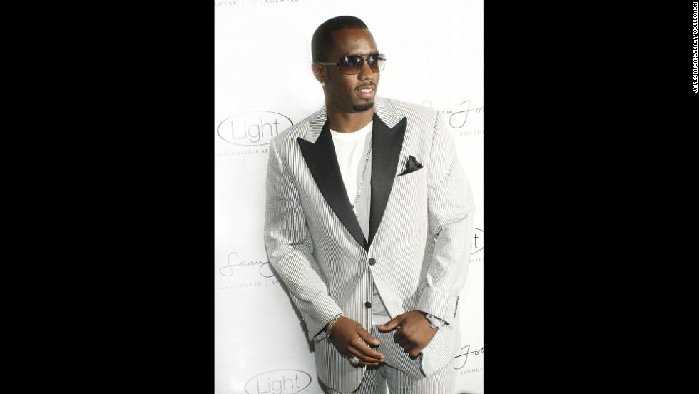 "Sean ""Diddy"" Combs wore seersucker to the Sean John Underwear and Loungewear Launch Party in 2007."