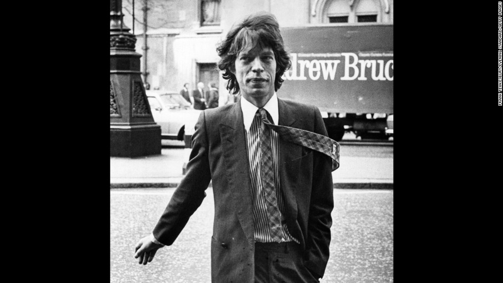Mick Jagger arrives at a London court in 1979 to go over his divorce settlement with Bianca. They were married for nine years.