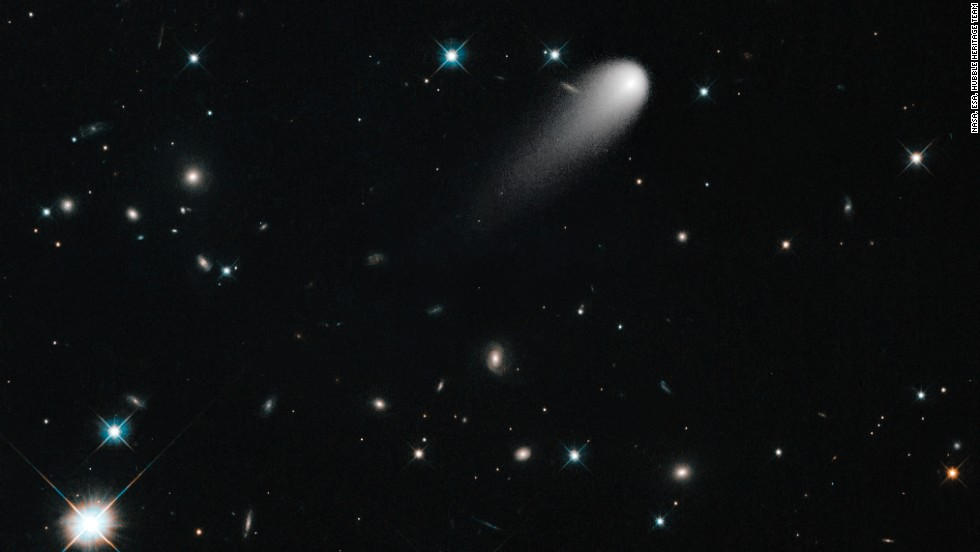 Color filters help create this vivid image of Comet ISON, captured by NASA's Hubble Space Telescope on April 30.