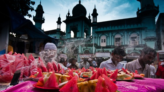 """This colorful feast of a photo was taken by Ashish Tibrewal in his native Mumbai, India, during Eid in 2009. """"Being a Hindu, I do not celebrate Eid myself but I visit my Muslim friends to greet them on Eid, and it"""