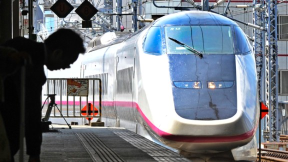 A bullet train arrives at Sendai Station in Miyagi prefecture in Japan, where high speed trains have operated safely for decades, says Yonah Freemark