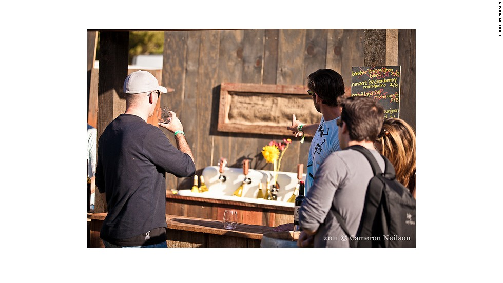 Warm, flat beer in a plastic cup is so last century. Wine Lands at the Outside Lands festival brings dozens of producers together under the same tent.