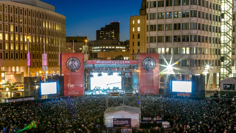 The inaugural Boston Calling festival took place at City Hall Plaza in May.