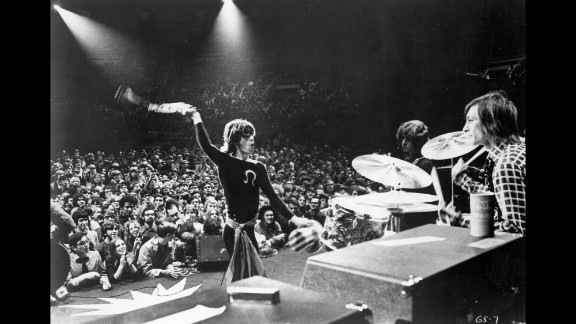 "The Rolling Stones perform in November 1969. The performance was recorded and released as a live album titled ""Get Yer Ya Ya's Out."""