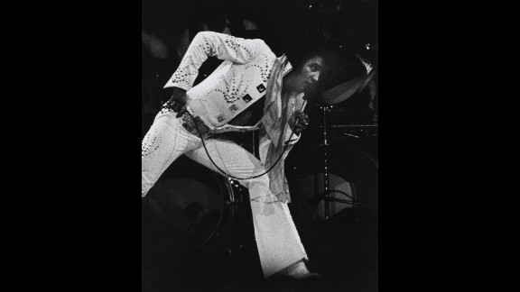 Elvis Presley plays the Garden in 1972.