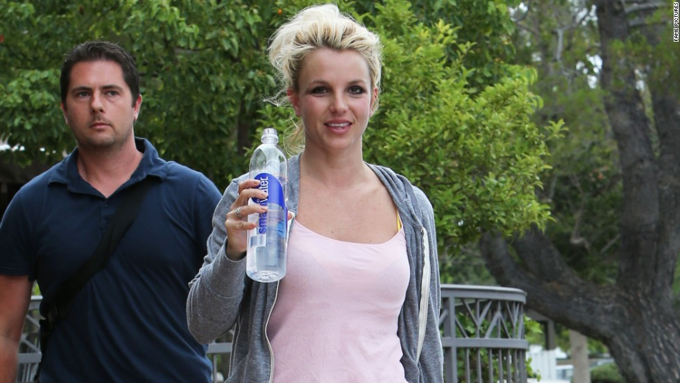 Britney Spears opts for comfort as she arrives at a rehearsal studio on July 26.