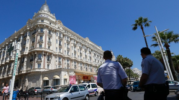 In July 2013, an armed robber held up a jewelry exhibition at the Carlton Hotel in the French resort city of Cannes, stealing jewels worth an estimated 102 million euros ($136 million).