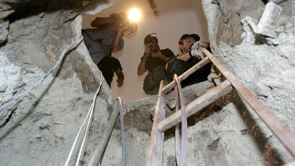 A gang of robbers posing as a landscape company dug a tunnel underneath Banco Central in Fortaleza, Brazil. On a Saturday in August 2005, they broke through concrete and steel into a vault and stole $69.8 million (165 million Brazilian reais). A few involved have been caught, but it remains an open case.
