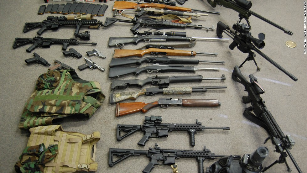 Authorities discovered a large stash of weapons at the farm as well as at Balletto's residence, according to the complaint and U.S. attorney's office. Lake County Sheriff's Department Lt. Chris Chwialkowski said the stash was one of the largest collection of weapons seized in his department's history.
